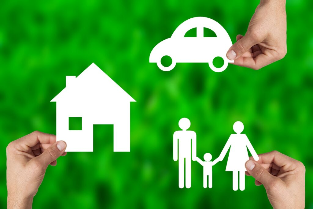House, car, family - symbolizing the importance of a family budget
